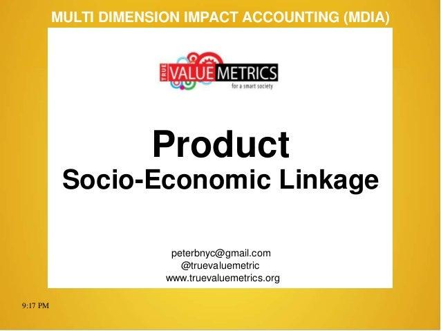 MDIA – Product: Socio-Economic Linkages (140602)