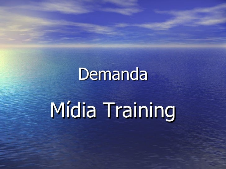 Demanda Mídia Training