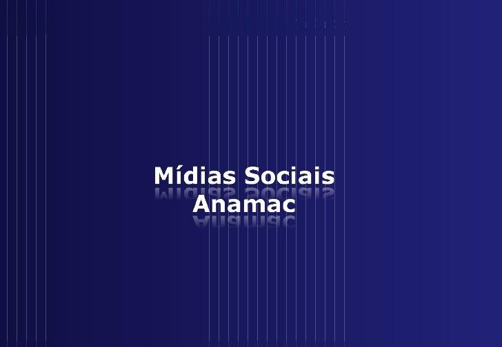 Mídias sociais anamac