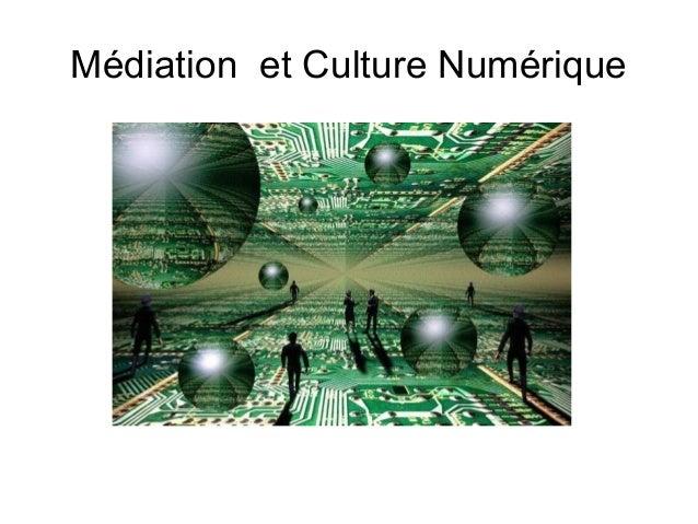 Médiation et Culture Numérique