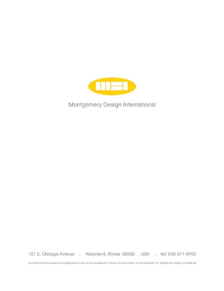 MDI OVERVIEW  Montgomery Design International is a full service Industrial Design consultancy based in the western suburbs...