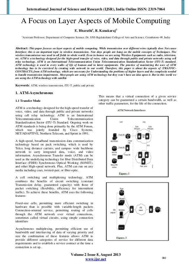 A Focus on Layer Aspects of Mobile Computing