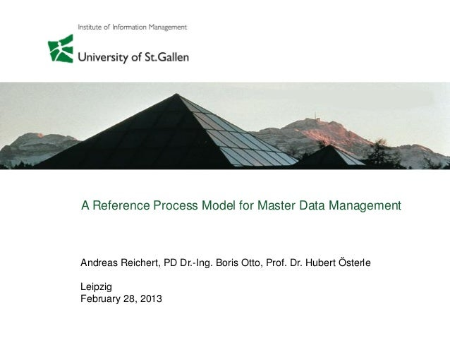 A Reference Process Model for Master Data Management