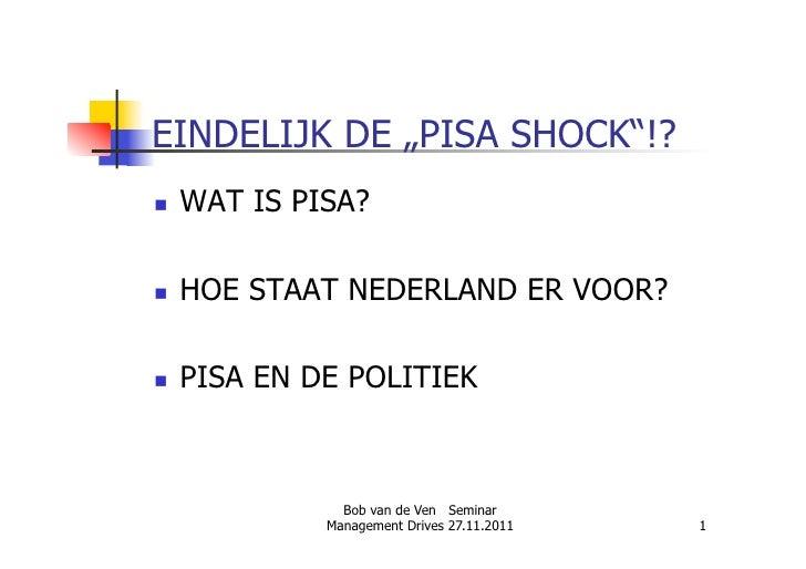 MD Onderwijs - PISA Lezing door Bob van Ven