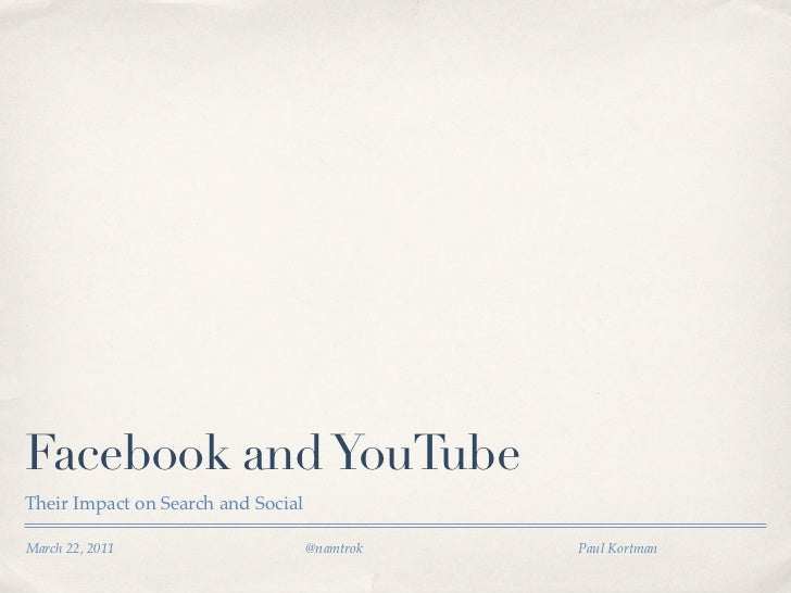 Facebook and YouTube How to