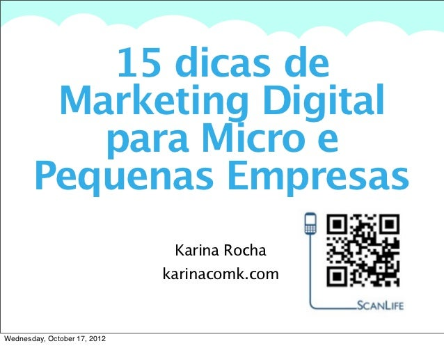 15 dicas de       A summary of this goal will be stated here that is clarifying and inspiring        Marketing Digital    ...