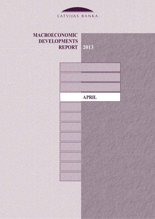 MACROECONOMICDEVELOPMENTSREPORTAPRIL2013