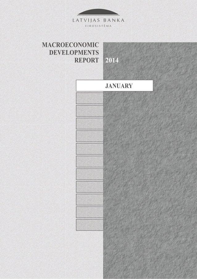 2 MACROECONOMIC DEVELOPMENTS REPORT January 2014 CONTENTS Contents Abbreviations 3 Executive Summary 4 1. External Sector ...