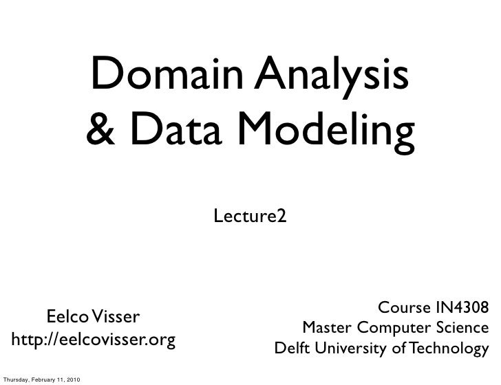 Domain Analysis                               & Data Modeling                                    Lecture2                 ...
