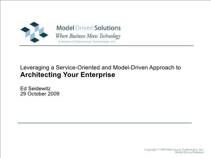 Architecting Your Enterprise