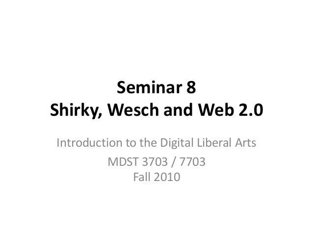 MDST 3703 F10 Seminar 8