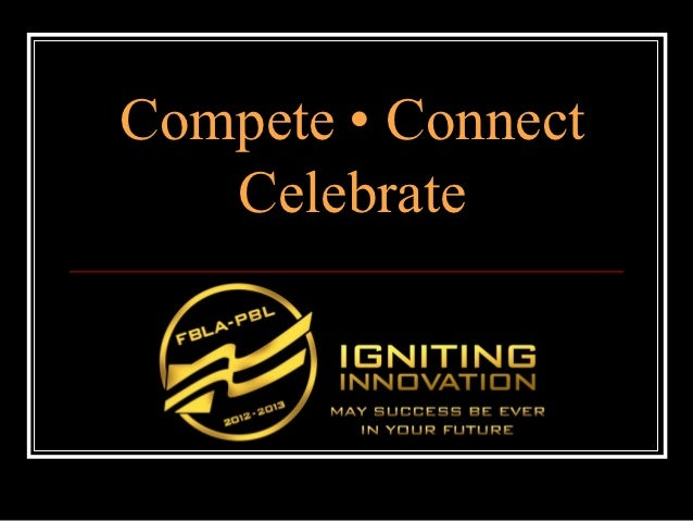 Compete | Connect | Celebrate - Maryland FBLA-PBL