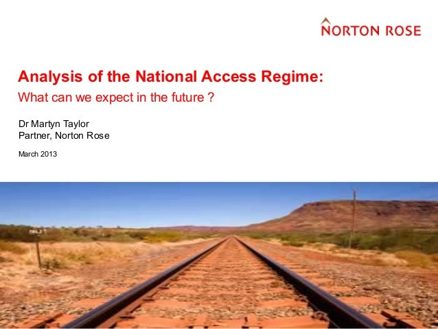 Analysis of the Australian National Access Regime