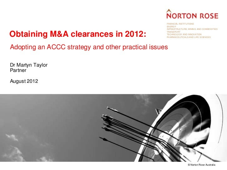 Obtaining Australian merger and acquisition clearances in 2012