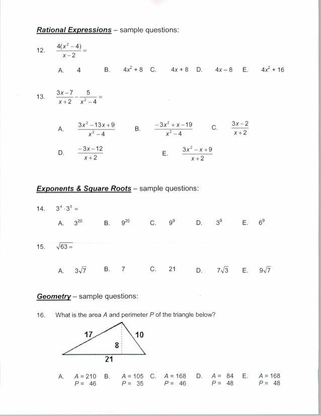 Pre algebra worksheets tests