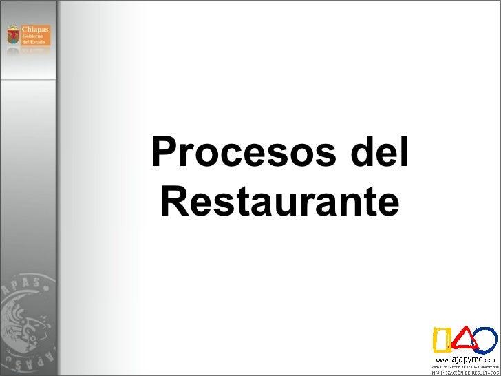 M dulo 5 operaci n restaurantes v3 for Manual de restaurante pdf
