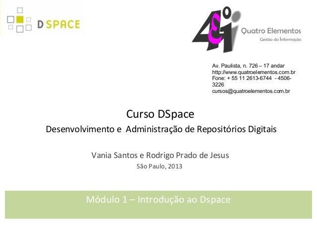 Módulo 01 Introdução ao DSpace