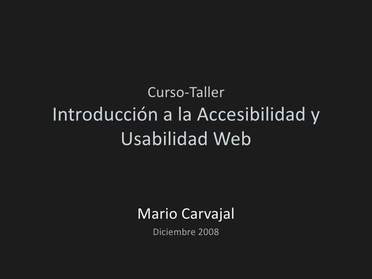 Curso de a accesibilidad web - Módulo 1: Sensibilización