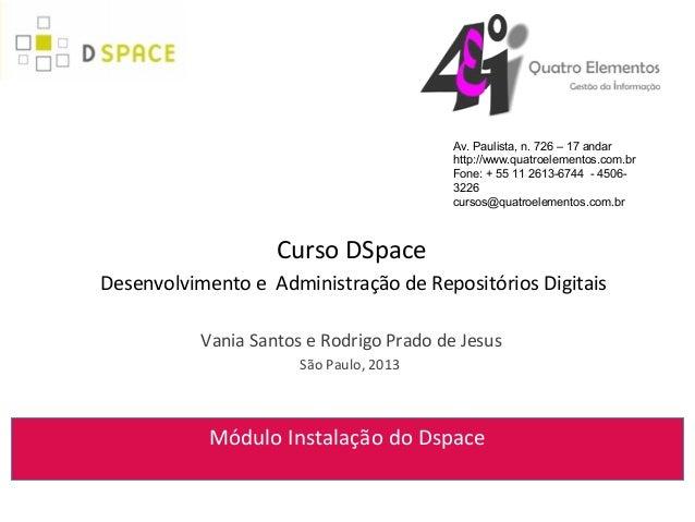 Módulo 16 Instalação do DSpace 3.x Windows Linux
