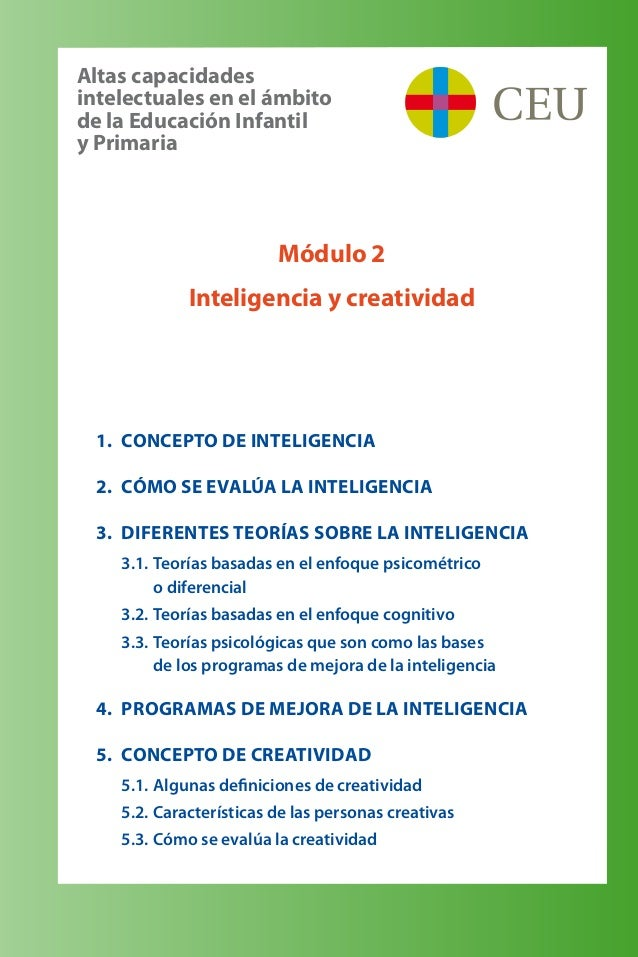 1. Concepto de inteligencia 2. Cómo se evalúa la inteligencia 3. Diferentes teorías sobre la inteligencia 3.1.Teorías ...