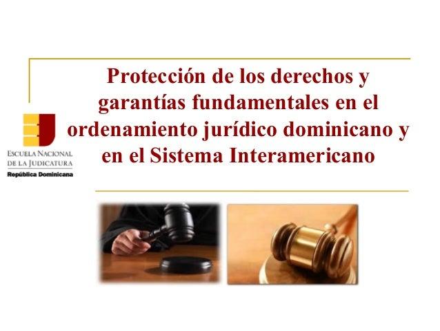 Protección de los derechos y garantías fundamentales en el ordenamiento jurídico dominicano y en el Sistema Interamericano