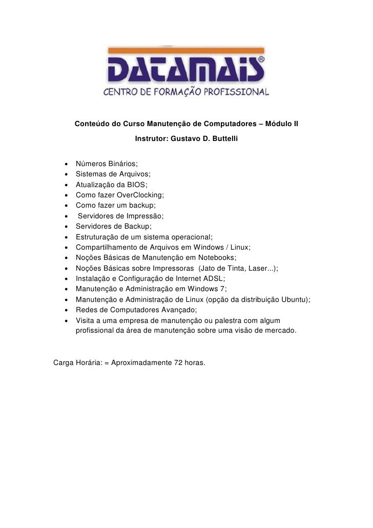 Cronograma Módulo II