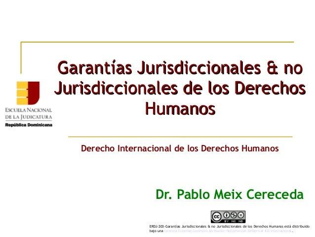 Garantías Jurisdiccionales & noGarantías Jurisdiccionales & no Jurisdiccionales de los DerechosJurisdiccionales de los Der...