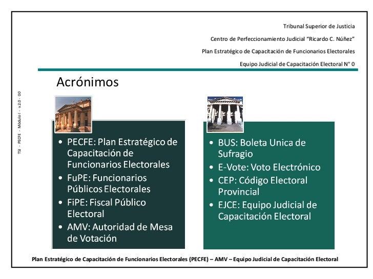 """Tribunal Superior de Justicia Centro de Perfeccionamiento Judicial """"Ricardo C. Núñez"""" Plan Estratégico de Capacitación de ..."""