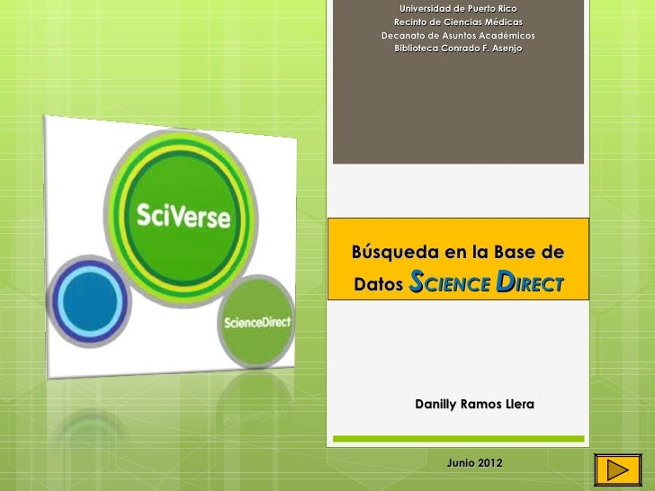 Módulo instruccional ScienceDirect