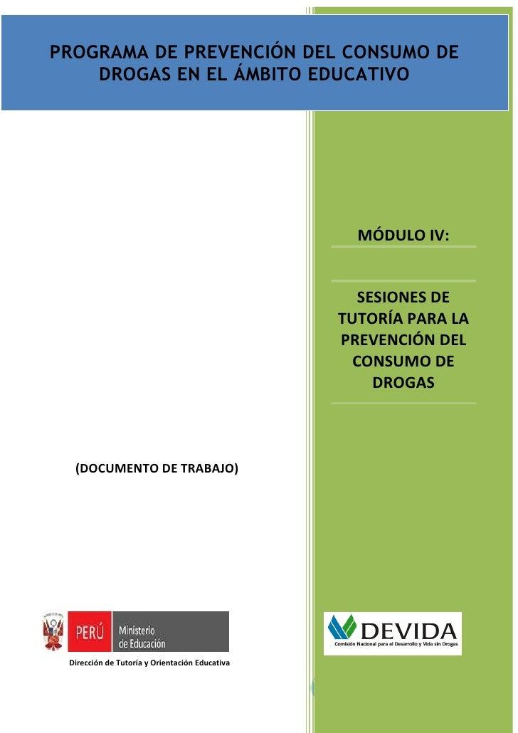 PROGRAMA DE PREVENCIÓN DEL CONSUMO DE DROGAS EN EL ÁMBITO EDUCATIVO PARA NIVEL SECUNDARIA                                 ...