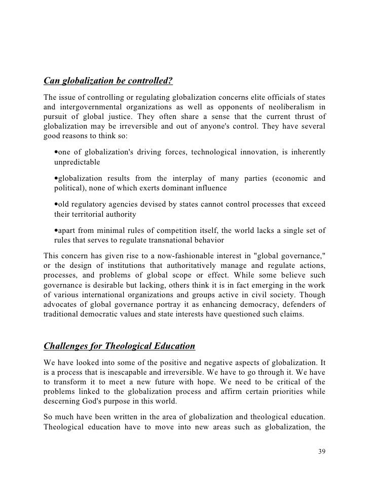 Globalization and innovation essay