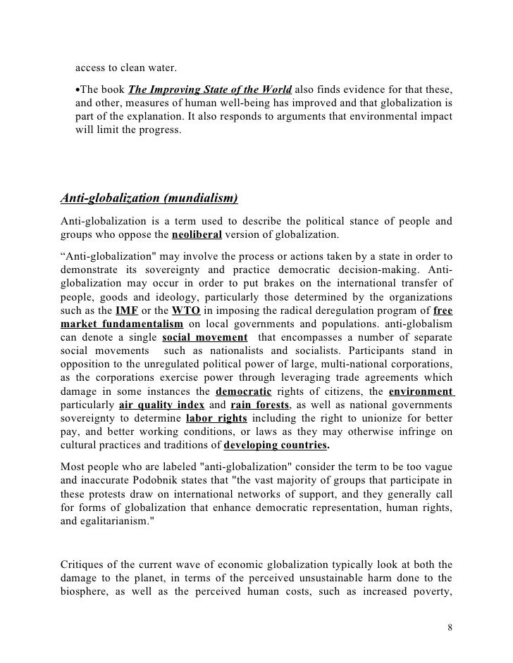 merits and demerits of globalization essay