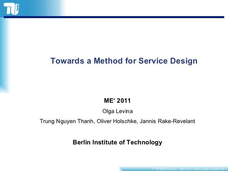 ME2011 presentation by Levina
