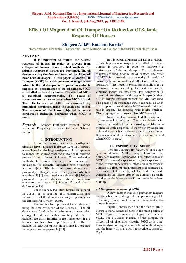 Shigeru Aoki, Katsumi Kurita / International Journal of Engineering Research and Applications (IJERA) ISSN: 2248-9622 www....