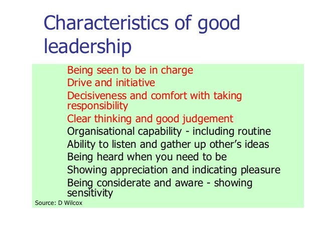 Essay About Leadership Qualities