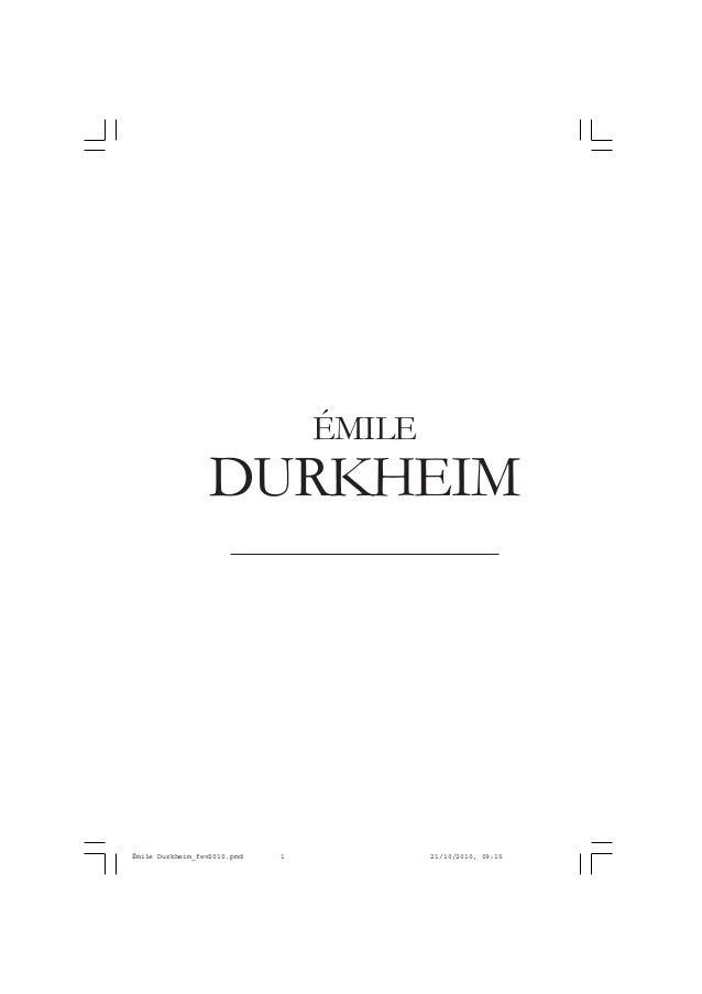 DURKHEIM ÉMILE Émile Durkheim_fev2010.pmd 21/10/2010, 09:151