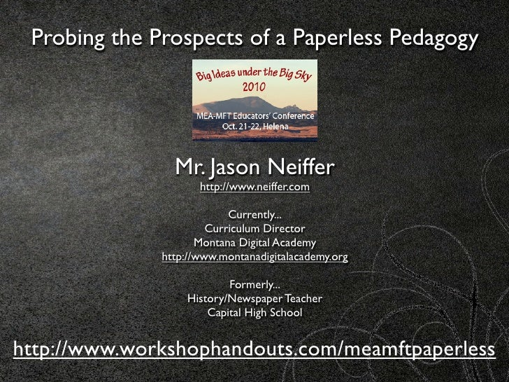 Probing the Prospects of Paperless Pedagogy