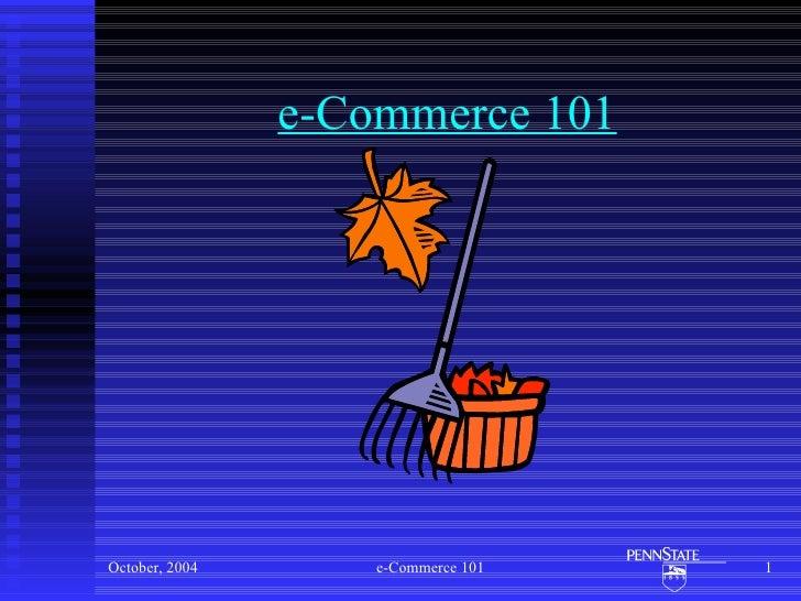 e-Commerce 101