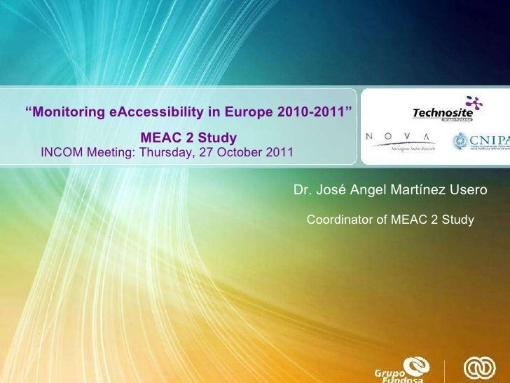 MeAC 2: overall results - presentation at INCOM meeting