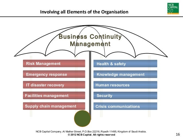 Essays on business continuity management