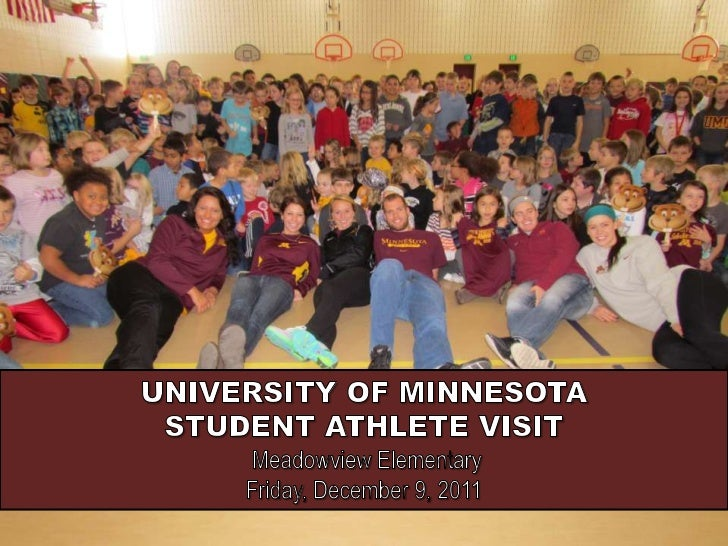U of M Student-Athletes Visit Meadowview Elementary