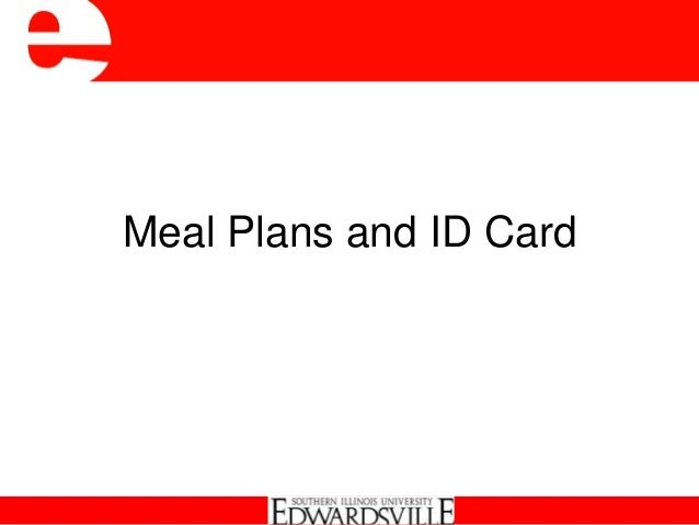 Meal Plans and ID Card