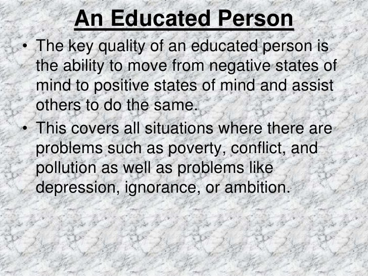 an educated person essay