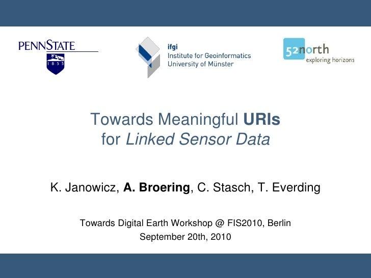 Meaningful URIs for Linked Sensor Data