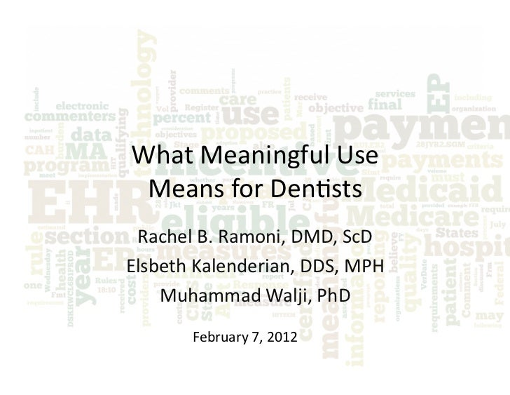 What Meaningful Use Means for Dentists