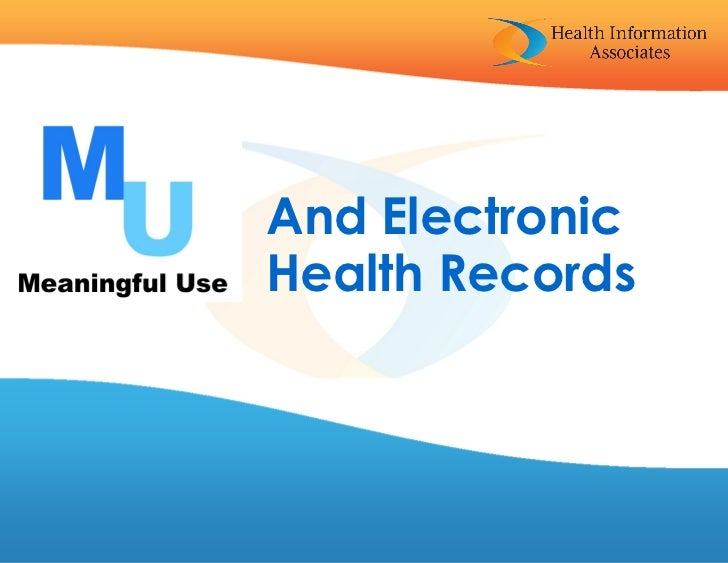 And ElectronicHealth Records