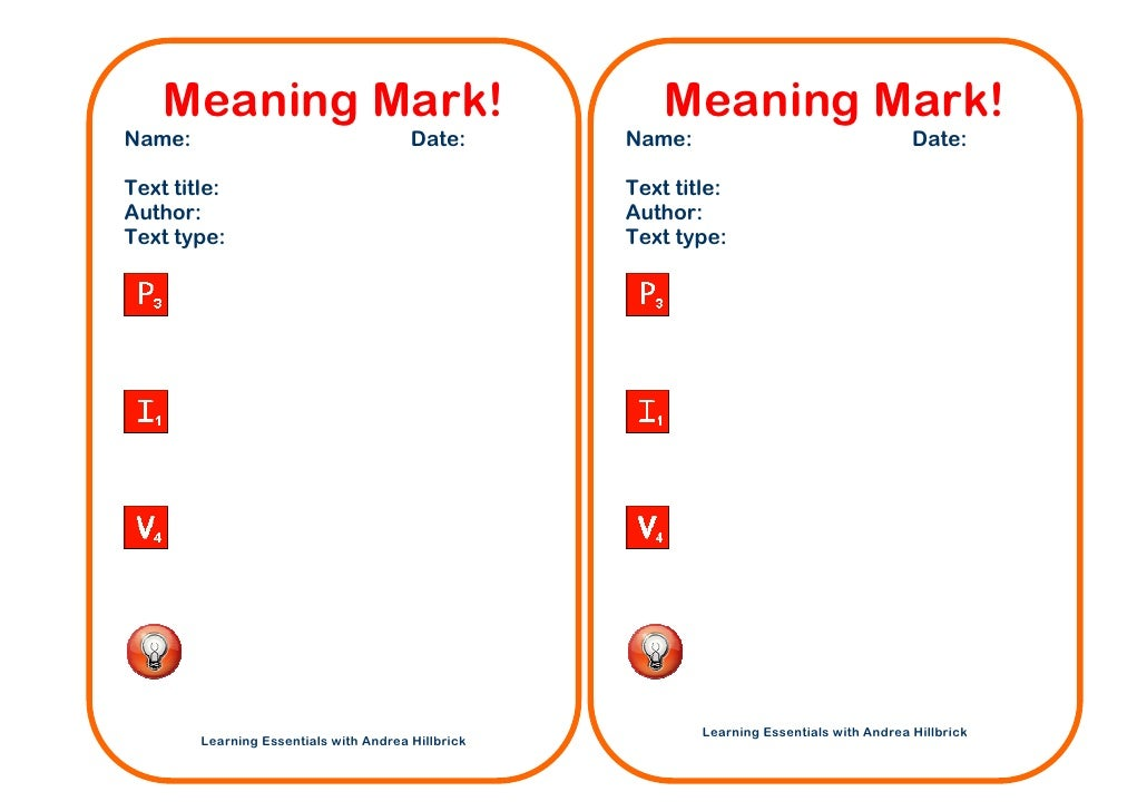 Meaning mark with icons
