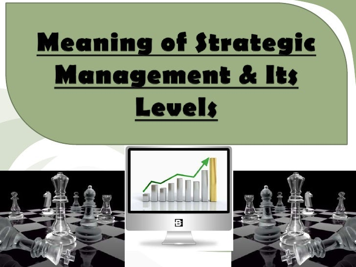 Meaning of strategic management & its levels111