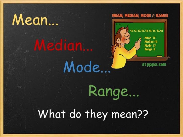 Mean, Median, Mode, And Range