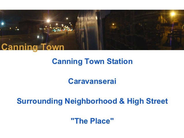 Meanwhile in canning town...